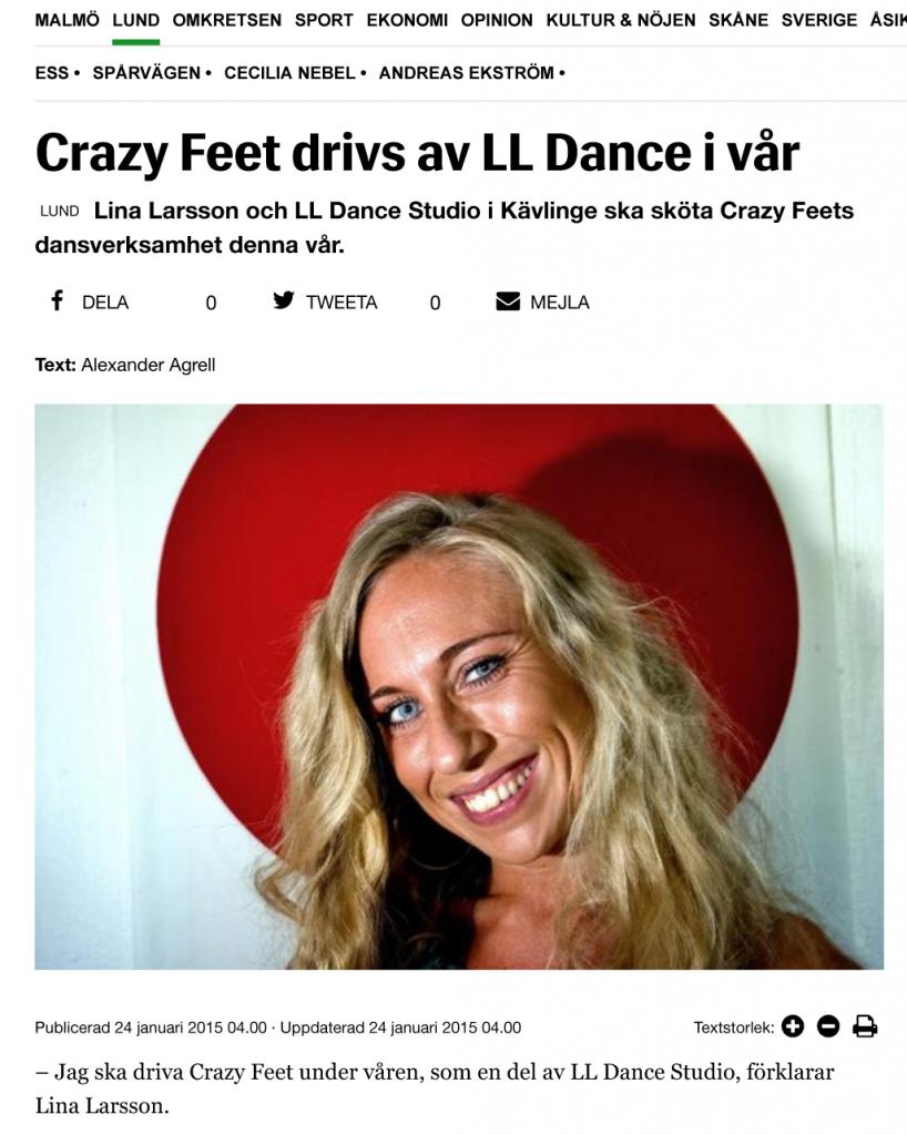 Crazy Feet drivs av LL Dance i vår - Sydsvenskan-1